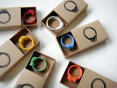 electric wire rings #upcycle #recycle #