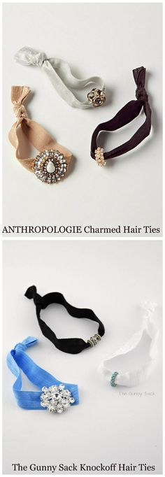Anthropologie Knockoff Charmed Hair Ties - The Gunny SackAnthropologie Knockoff Charmed Hair TiesKAMI GARCIA - The perfect weekend project .EASY DIY FLOWERS moreRapunzel Tangled costume braid, Rapunzel hair for Dress Up Halloween birthday partyTrenza Diy Baby Headbands, Diy Headband, Headband Pattern, Elastic Ribbon, Elastic Hair Ties, Diy Hair Accessories, Sewing Accessories, Diy Schmuck, Bandeau