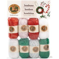 @Overstock - Bonbons Yarn 8/Pkg-Jingle Bells - These miniature skeins of yarn are perfect for any project requiring multiple colors such as amigurumi
