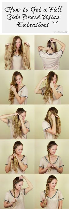 Orlando Florida fashion blog does a side dutch braid tutorial using Bellami hair extensions to get a fuller longer braid