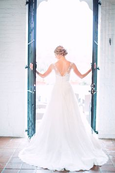 One of our real brides Erin wearing a gorgeous Anne Barge gown from Malindy Elene Bridal!