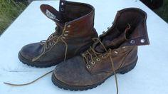 Vintage Red Wing Irish Setter Boots Size 8 Great Grunge Made in USA #RedWing #WorkBootsIrishsetter