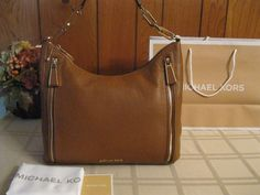 NWOT Michael Kors Matilda Pebble Leather Luggage MSRP $328