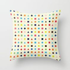 Dot Triangle Square Plus Repeat Throw Pillow