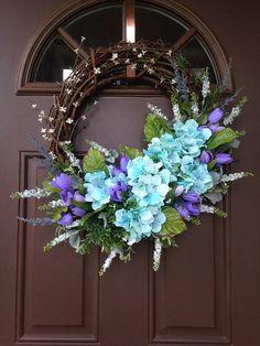 Summer Wreath for Front Door Spring Wreath Front Door Decor