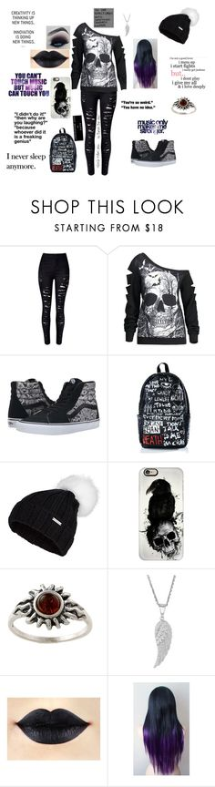 """""""Untitled #66"""" by life-is-a-savage ❤ liked on Polyvore featuring Vans, Haculla, Sweaty Betty, Casetify, Amber Sun and KING"""