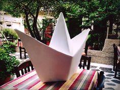 handmade origami boat..clay boat