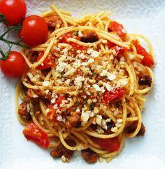 Spaghetti with Chorizo + Rosemary Pangritata | Cucina Fresca