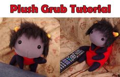 homestuck crafts Karkat plush grub tutorial dolorosa signless grubkat