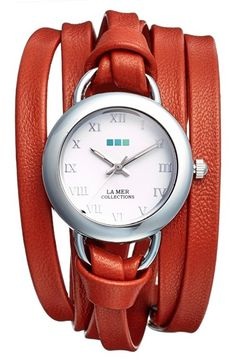 La+Mer+Collections+'Saturn'+Leather+Wrap+Watch,+32mm+available+at+#Nordstrom