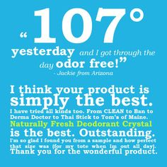 Naturally Fresh helps you keep your cool.