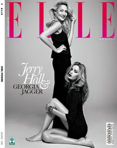 Georgia May Jagger and Jerry Hall Pose for Elle Brazil by Max Abadian