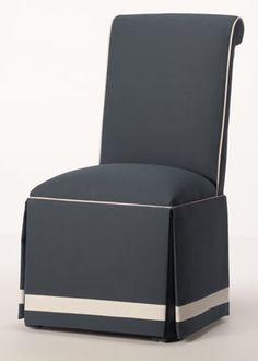 Like the welting & banding on skirt.     Nantucket Parsons Chair ($179)
