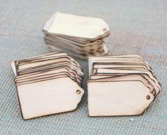 Wood Tags Escort Cards Rustic Wedding Favors 150
