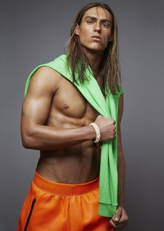 Travis Smith styled by Timothy Reukal in Dsquared2 for Risbel magazine.