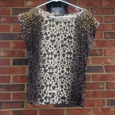 Ombré Cheetah Print Shirt Worn only a few times so like new! Good quality. Bought overseas while living in Germany Tops Tees - Short Sleeve