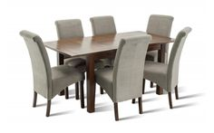 Riva Extending Dining Set Table with 6 Seville Fabric Dining Chairs Luxury Dining Tables, Dining Table Design, Luxury Furniture, Modern Furniture, Contemporary Dining Sets, Fabric Dining Chairs, Top Interior Designers, Small Tables, Table Settings