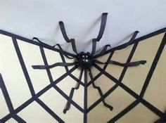 My baby will love this!!! spider web made of streamers