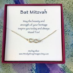 Bat Mitzvah or Hanukkah gift Sideways by WendyShrayDesigns