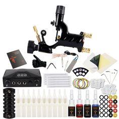 Complete Tattoo <b>Kit</b> 2 Tattoo Machine Gun Set 10 Colors <b>Tattoo Ink</b> ...