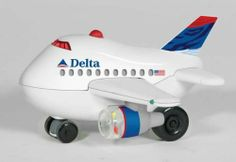 Delta Bump & Go AIRPLANE-NEW Livery by Bump & Go Plane. $15.51. Atgorized Delta Airlines Colors. Cool Bump & Go Action. This chubby Bump and Go plane - always keeps going!! When they hit an object, they just spin around and go in another direction. Working lights on the cockpit, wings and beacon. The engines spin, too!!! Batteries NOT included.
