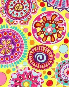 iPad Abstract Art Painting by Thaneeya