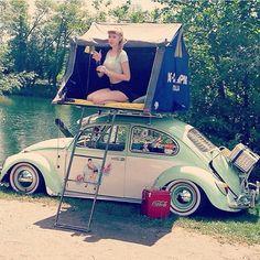 VW beetle - camping