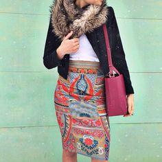 high waisted skirt X cropped @smythejackets