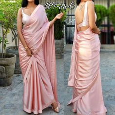 Saree Fabric: Pure Heavy Satin Blouse: Separate Blouse Piece Blouse Fabric: Silk Pattern: Solid Multipack: Single Colors: As In Pictures Days Free Home Delivery Easy Returns Available in Case Of Any Issue Within 5 Days Of Delivery Order Before Stock Ends Trendy Sarees, Fancy Sarees, Party Wear Sarees, Stylish Sarees, Satin Saree, Silk Satin, Silk Sarees, Sarees For Girls, Ethnic Sarees