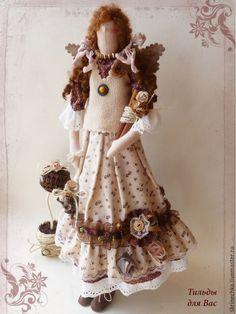 Купить Тильда Кофейная фея Кэтти - коричневый, фея, фея тильда, ангел, ангел тильда