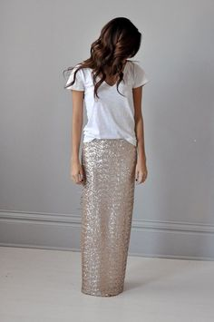 sequin maxi skirt..... I'm into it
