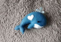 Felt Blue Whale / Felt Ornament/ Sea World Animals/ Christmas Ornament/ Handmade…
