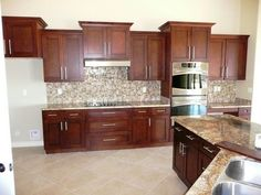 shaker mahogany kitchen cabinets by sollid cabinetry i like the tops of the cabinets and - Delaware Kitchen Cabinets
