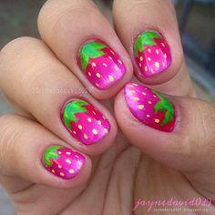 strawberry by jaynedavid029 #nail #nails #nailart