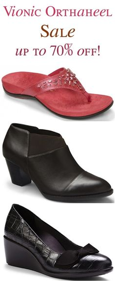 Vionic with Orthaheel Shoe Sale: up to 70% off! #shoes #thefrugalgirls
