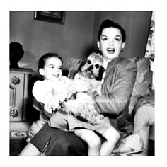 """allaboutclassics: """"Judy, Liza and a pup ❤️ """""""