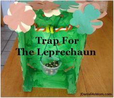 A simple trap created to catch a leprechaun! #stpatricksday #kids
