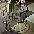Brass-plated Iron Mirrored Round SideTable (India) | Overstock.com Shopping - The Best Deals on Coffee, Sofa & End Tables