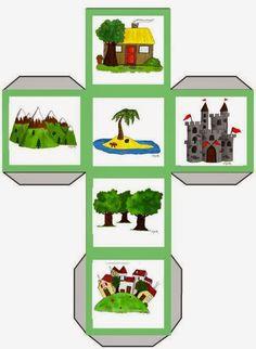 Χαρούμενες φατσούλες στο νηπιαγωγείο: ΔΗΜΙΟΥΡΓΙΑ ΠΑΡΑΜΥΘΙΟΥ - Η ΒΑΛΙΤΣΑ ΤΗΣ ΔΗΜΙΟΥΡΓΙΚΗΣ ΓΡΑΦΗΣ Science Activities, Toddler Activities, Story Cubes, Story Sack, Bible Games, Montessori Toddler, Writing Styles, Teaching Materials, Kids Health