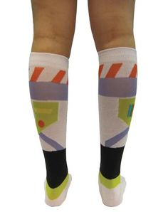 Toy Story Buzz Lightyear Knee High Socks....if someone would do me the extraordinary honor of buying these for me..I would literally love you forever :D