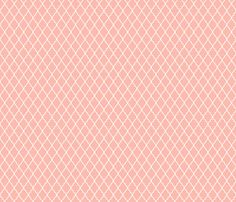 For baby Cora- Peach Quartrefoil fabric by vintagegreenlimited on Spoonflower - custom fabric