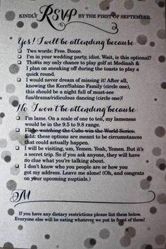 Reddit: Best Wedding Invitation RSVP Ever Goes Viral