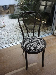 #thonet chair with #florencebroadhurst fabric