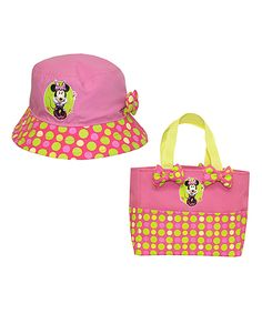 This Minnie Mouse Tote & Bucket Hat by Minnie Mouse is perfect! #zulilyfinds