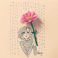 Illustrations, Photo Illustration, Art Floral, Fuerza Natural, Happy Birthday Printable, Beautiful Girl Drawing, Art Mignon, Imagination Art, Doodle