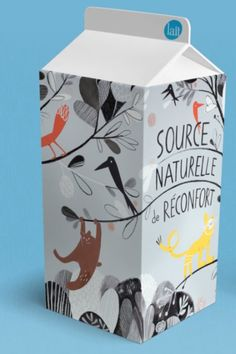nathalieswannet:Le Lait milk carton design and illustration by Isabelle Arsenault (found via nae-design).