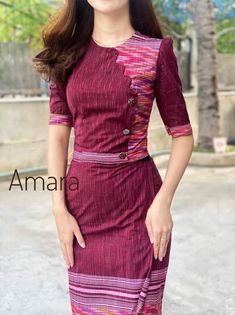 Dress Designs, Blouse Designs, Traditional Dresses Designs, Myanmar Dress Design, Myanmar Traditional Dress, Indian Skirt, Kpop Fashion Outfits, Western Dresses, Burmese