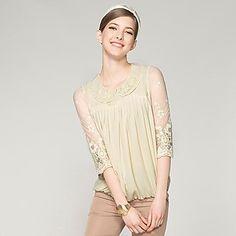 Women's  Autumn  Sun  Collar  Doll Chiffon Shirt   – USD $ 25.89