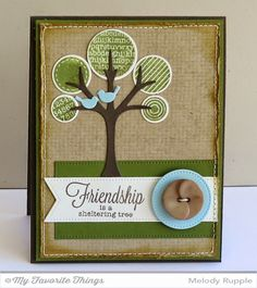 Out on a Limb stamp set and Die-namics, Centerpieces Framed Lovebirds, Pierced Circle STAX Die-namics, Pierced Fishtail Flags STAX Die-namics - Melody Rupple #mftstamps