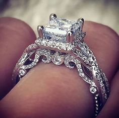 Verragio engagement rings the same style but a center black diamond Verragio Engagement Rings, Verragio Rings, Big Engagement Rings, Do It Yourself Fashion, Ring Verlobung, Dream Ring, Diamond Are A Girls Best Friend, Beautiful Rings, Pretty Rings
